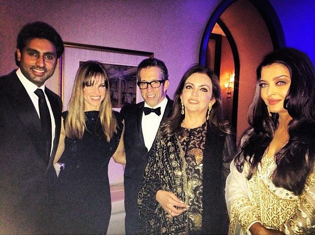 Abhishek Bachchan, Hilary Swank, Kenneth Cole, Nita Ambani and Aishwarya Rai Bachchan