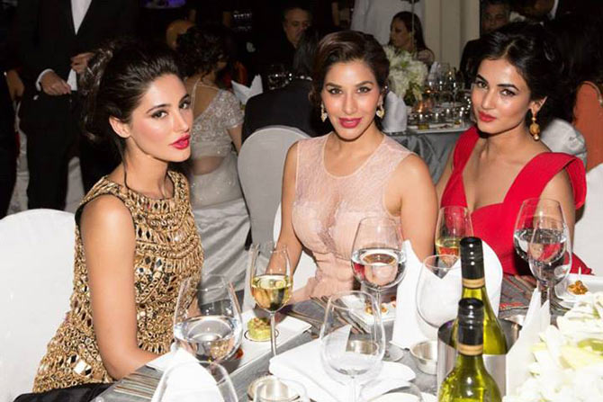 Sophie Choudry with Nargis Fakhri and Sonal Chauhan