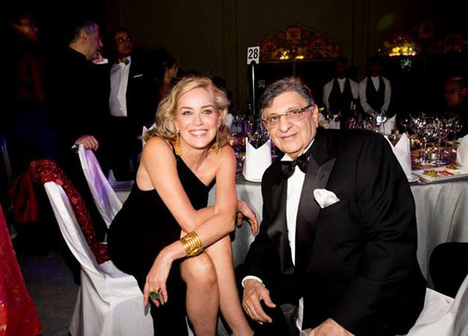 Cyrus Poonawala with Sharon Stone