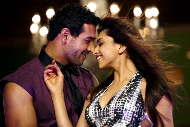 John Abraham and Deepika Padukone in Desi Boyz