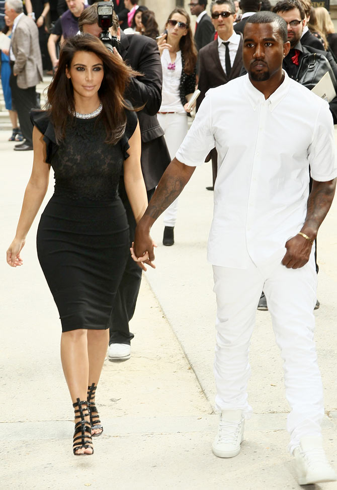 Kim Kardashian along with Kanye West