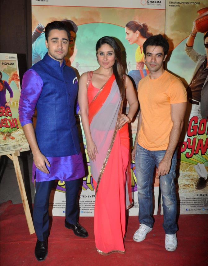 Imran Khan, Kareena Kapoor and director Punit Malhotra