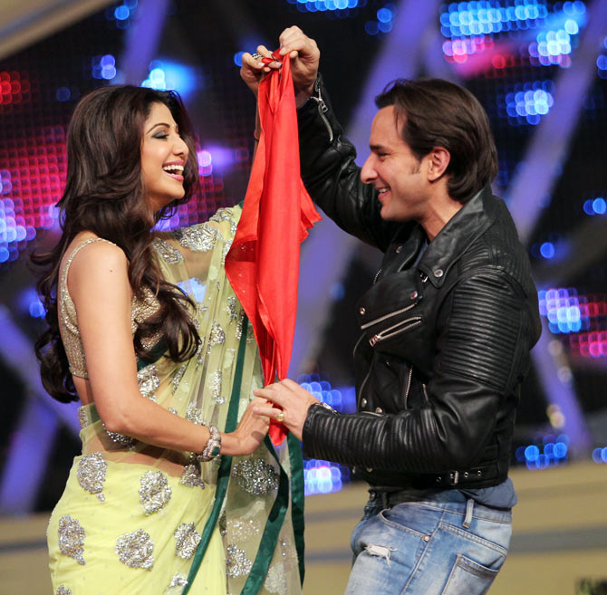 Saif Ali Khan and Shilpa Shetty