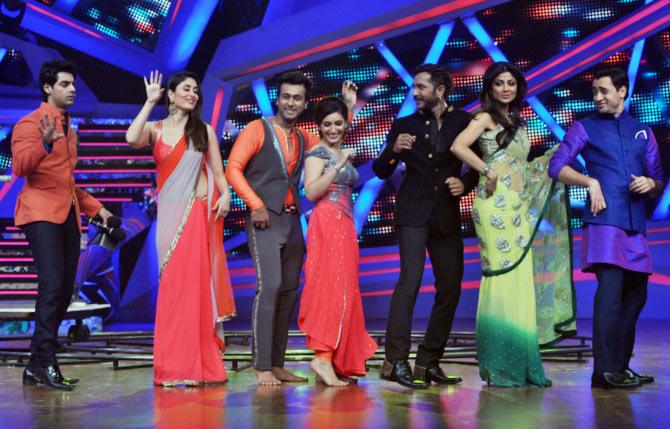Karan Wahi, Kareena Kapoor, Shivangi Verma and Ripu Daman Handa, Terence Lewis, Shilpa Shetty and Imran Khan