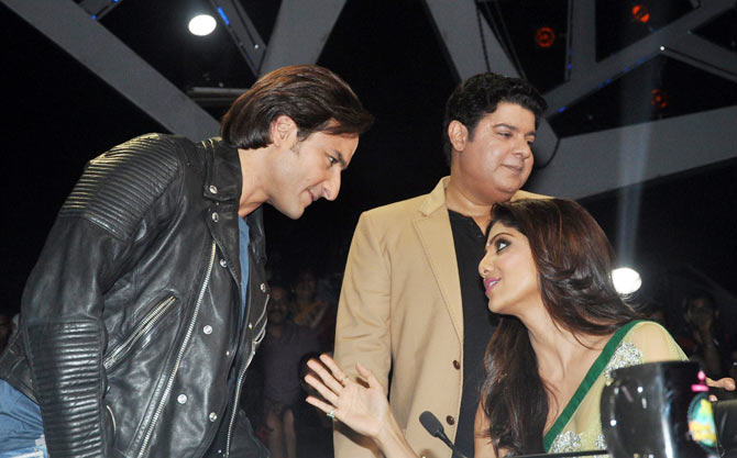 Saif Ali Khan, Sajid Khan and Shilpa Shetty.