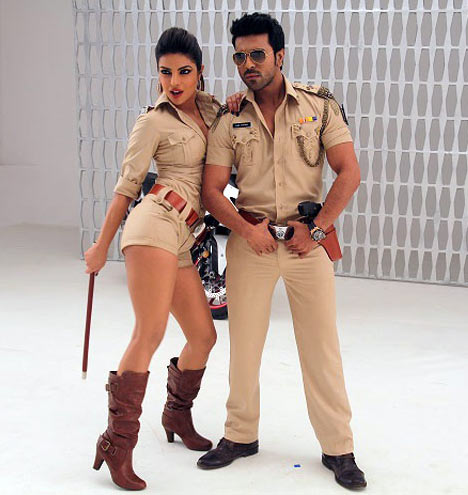 Priyanka Chopra with Ram Charan in Zanjeer