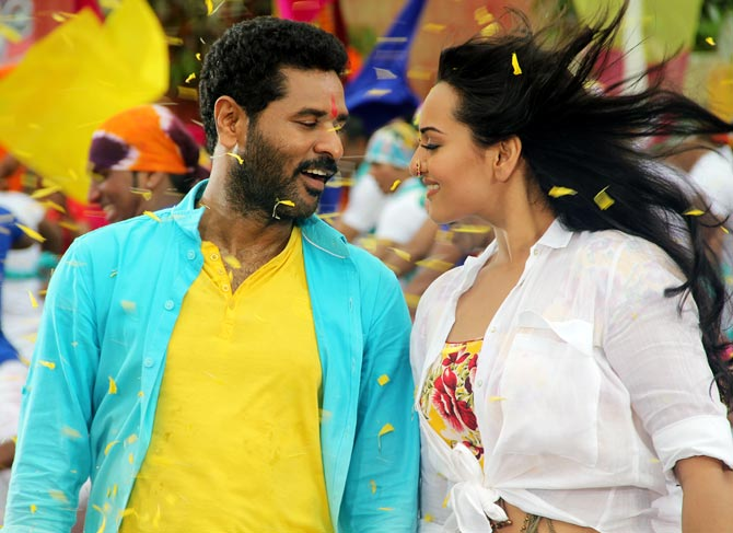 Prabhudheva and Sonakshi Sinha in Oh My God!