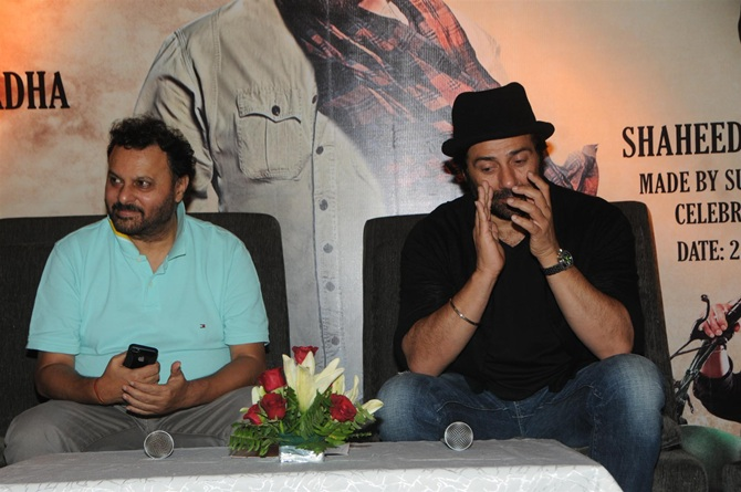 Anil Sharma with Sunny Deol