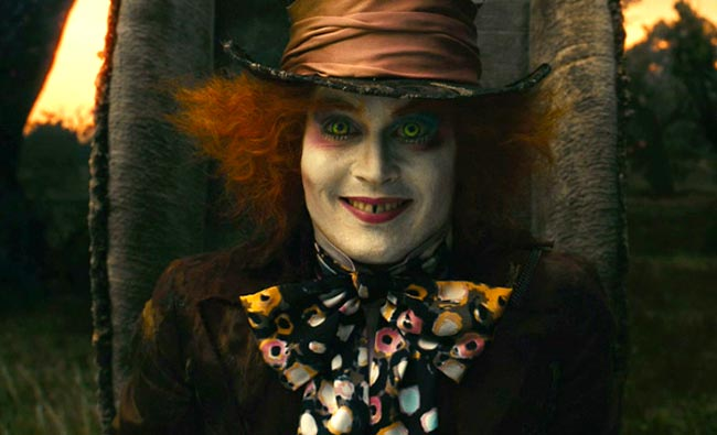 Johnny Depp as the Mad Hatter in Johnny Depp to reprise role of Mad Hatter in Alice In Wonderland 2