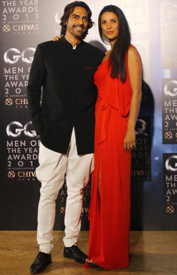 Arjun Rampal with wife Mehr Jessia
