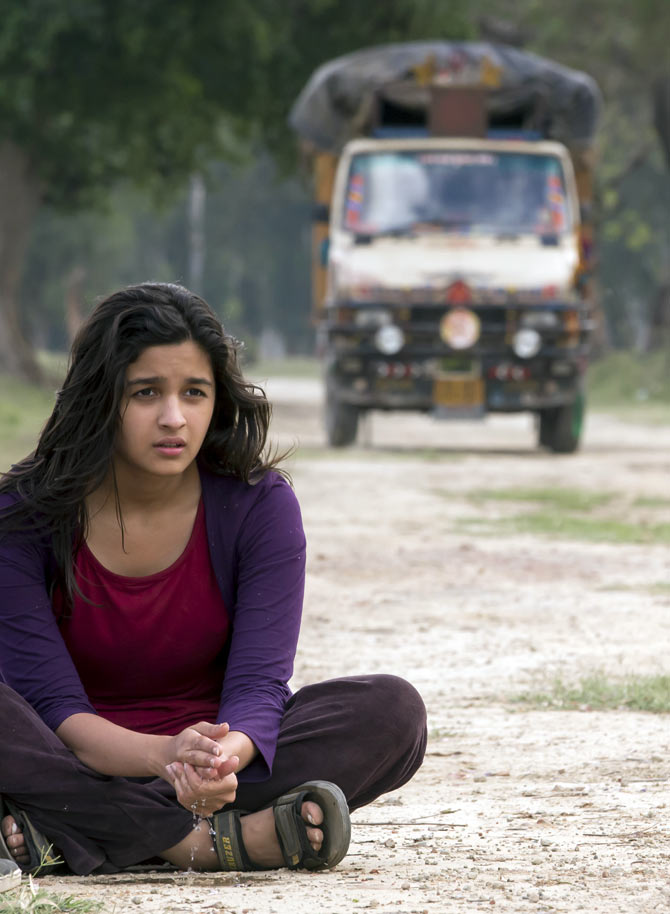 Alia Bhatt shoots for Highway