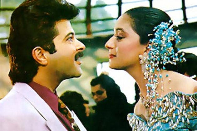 Madhuri Dixit with Anil Kapoor in Khel