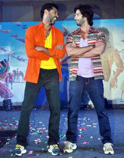 Prabhu Deva and Shahid Kapoor
