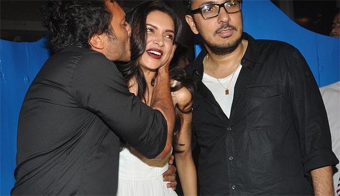 Homi Adajania, Deepika Padukone and Dinesh Vijan