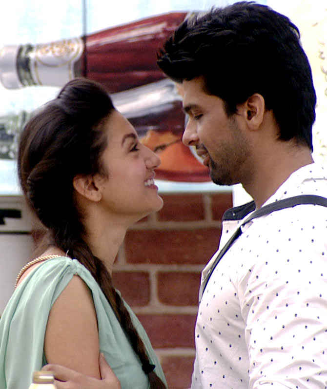 Gauahar and Kushal in Bigg Boss