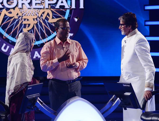Firoz Fatma and Amitabh Bachchan.