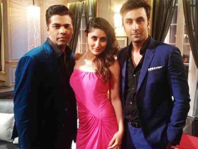 Karan Johar, Kareena Kapoor Khan and Ranbir Kapoor