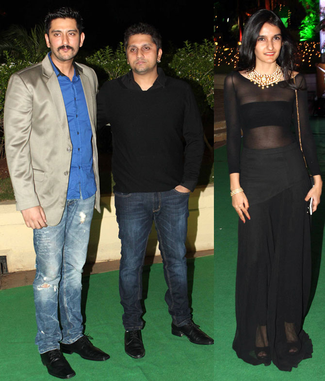 Sakshi Bhatt and Mohit Suri with a friend