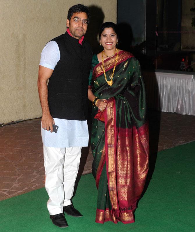 Ashutosh Rana and Renuka Shahane