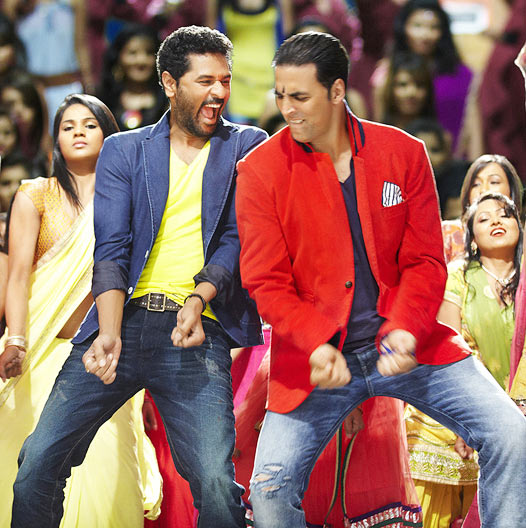 Prabhudheva and Akshay Kumar in Boss