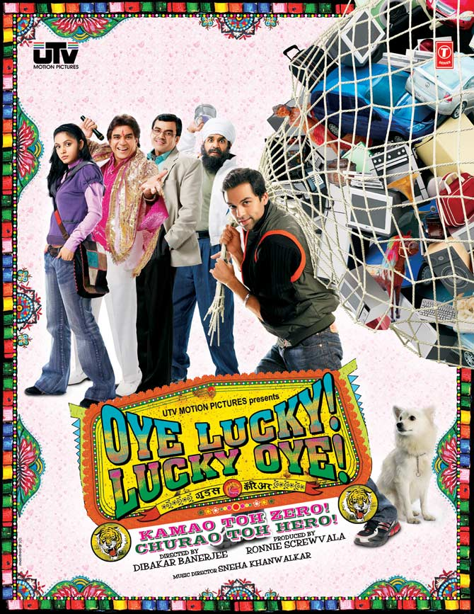 Movie poster of Oye Lucky! Lucky Oye!