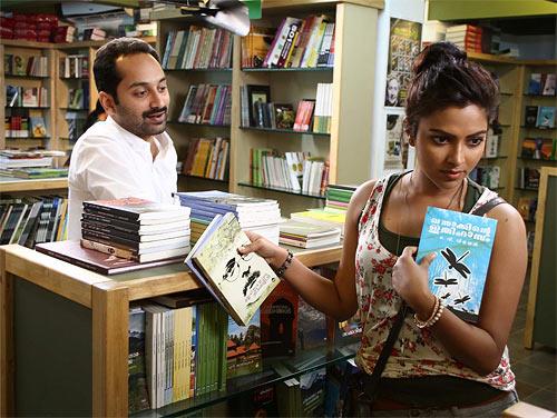 Fahadh Faasiland Amala Paul in Oru Indian Pranayakatha