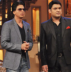 Shah Rukh Khan and Kapi Sharma on Comedy Nights With Kapil