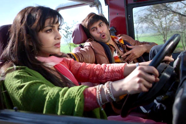 Pallavi Sharda and Ranbir Kapoor in the Dil Ka Jo Haal Hai song in Besharam.