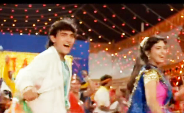 Aamir Khan and Juhi Chawla in Love Love Love