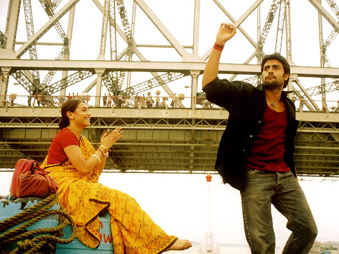Rani Mukerji and Abhishek Bachchan in Yuva