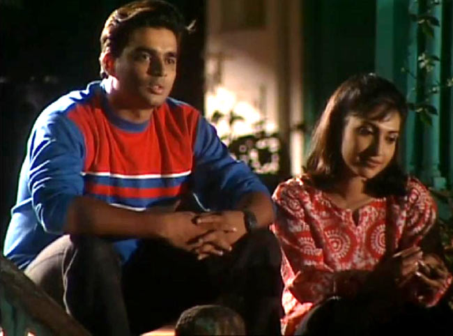 R Madhavan and Rupali Ganguly in television series Rishtey