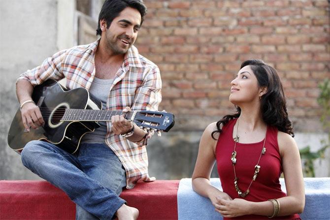 Ayushmann Khurrana and Yami Gautam in Vicky Donor