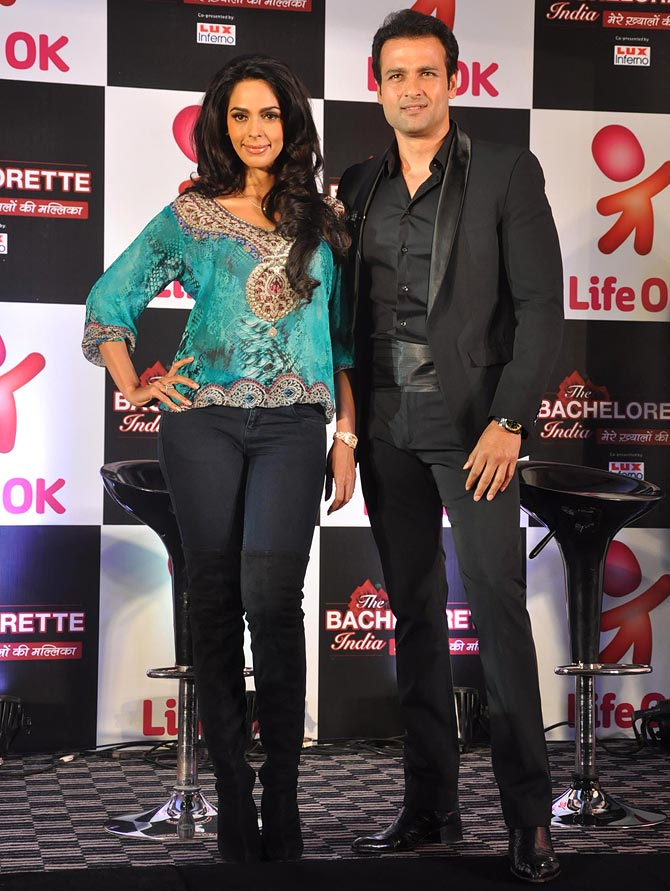 Mallika Sherawat and Rohit Roy