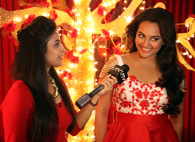 Sonakshi Sinha and host Garima