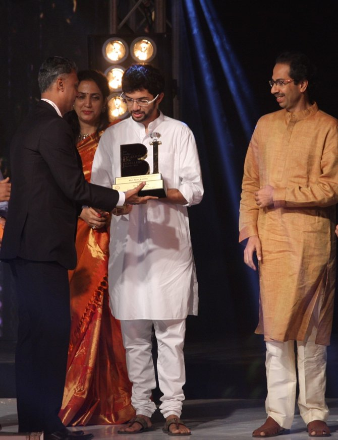 Aditya Thackeray with father Uddhav