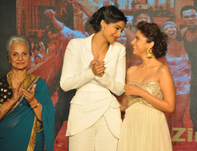 Waheeda Rehman, Sonam Kapoor and Aditi Rao Hydari