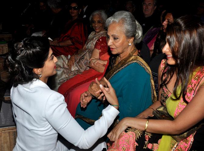 Sonam Kapoor and Waheeda Rehman