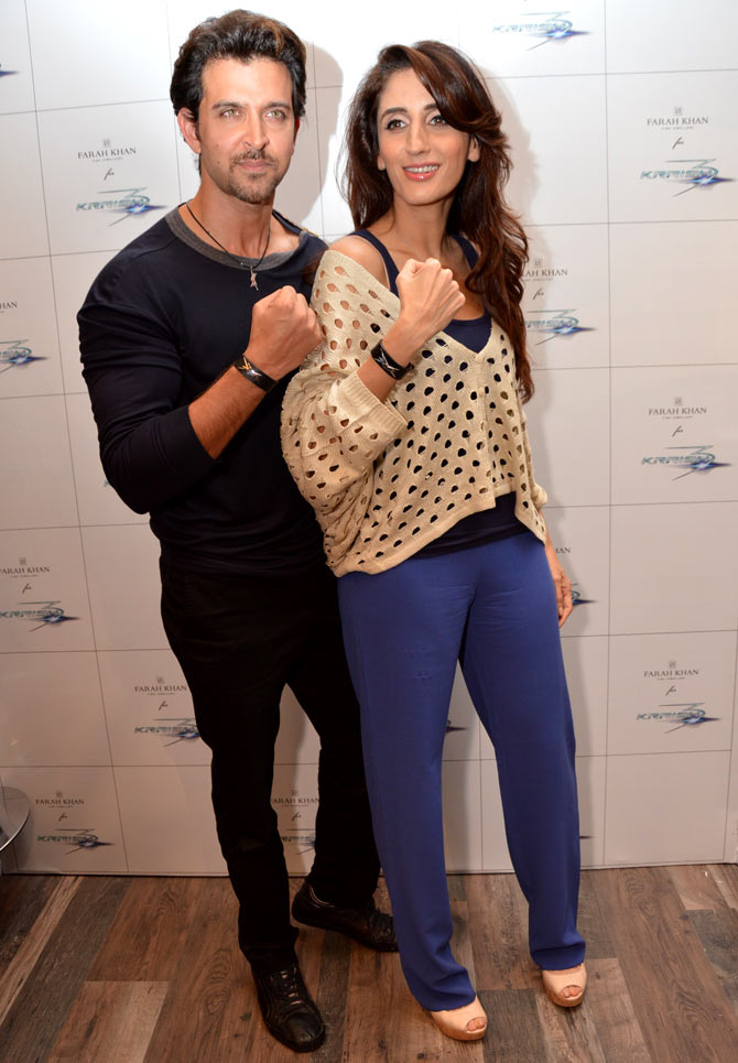 Hrithik Roshan with sister-in-law Farah Khan Ali