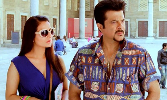 Ameesha Patel and Anil Kapoor in Race-2