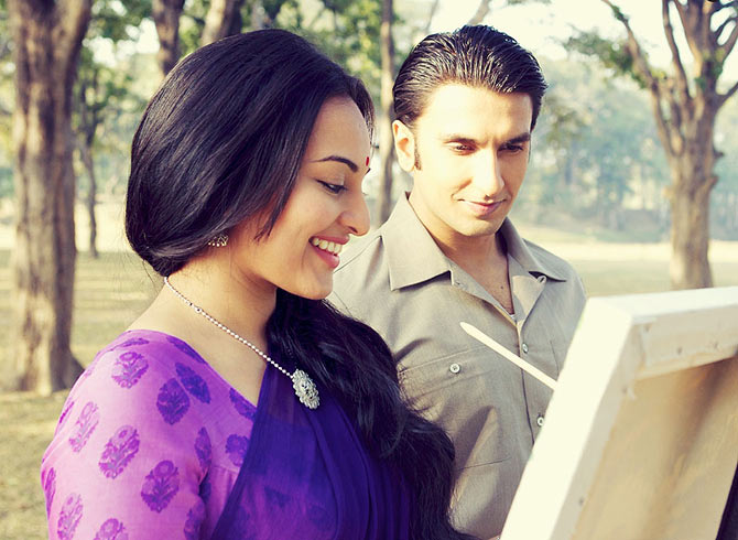 Ranveer singh and Sonakshi Sinha in Lootera