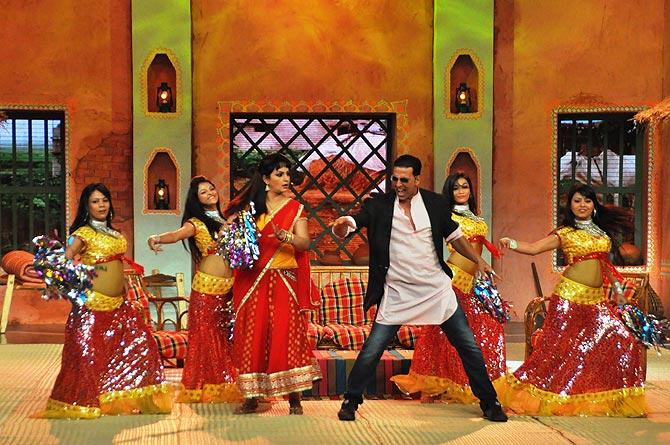 Upasana Singh and Akshay Kumar