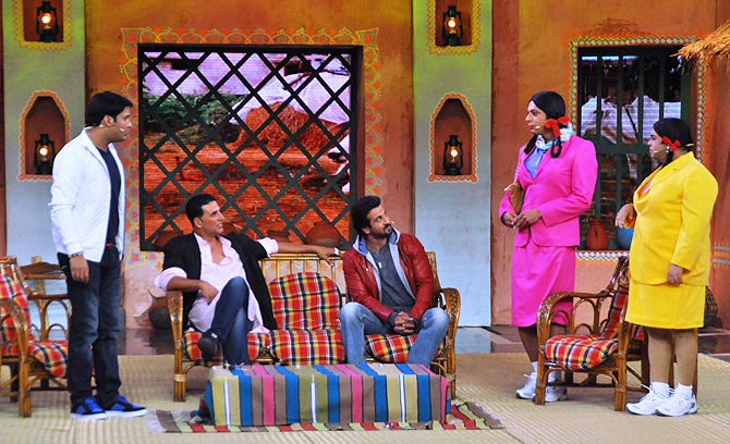 Kapil Sharma, Akshay Kumar, Ronit Roy, Sunil Grover and Kiku Sharda