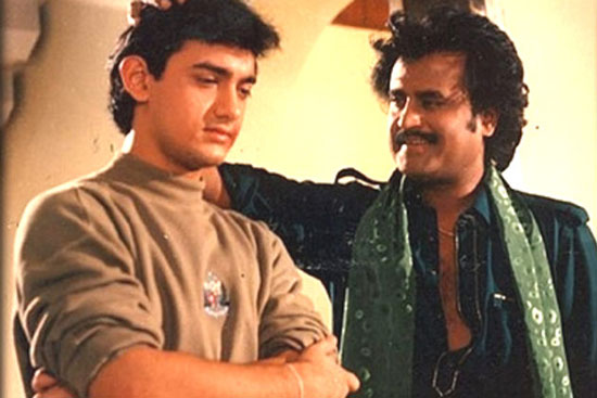 Aamir Khan and Rajinikanth in Aatank Hi Aatank