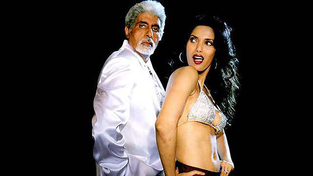 Amitabh Bachchan and Padma Lakshmi in Boom