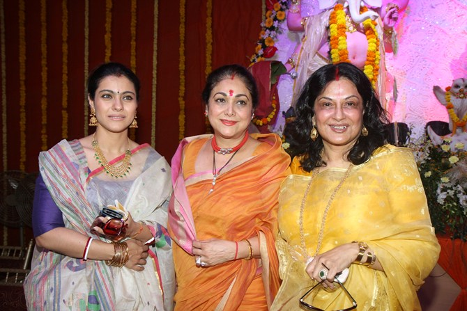 Kajol with Tina Ambani and Moushmi Chatterjee