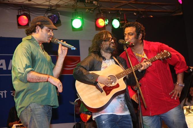 Mohit Chauhan, Pritam and Anurag Basu