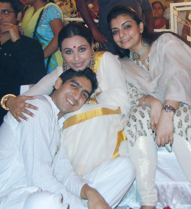 Ayan and Rani Mukerji, Vaibhavi Merchant