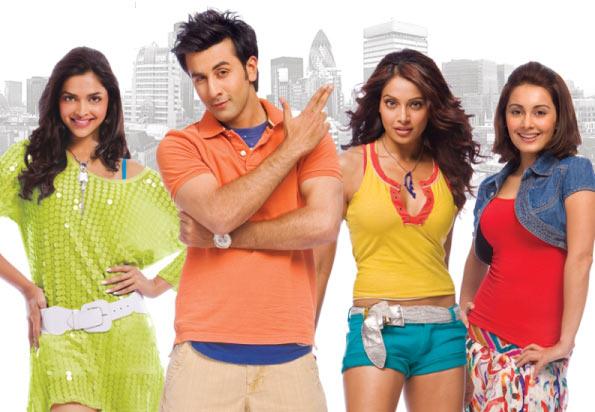 Deepika Padukone, Ranbir Kapoor, Bipasha Basu and Minissha Lamba in Bachna Ae Haseeno