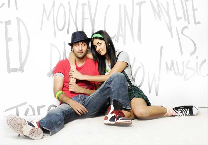 Ranbir Kapoor and Katrina Kaif in Ajab Prem Ki Ghazab Kahaani