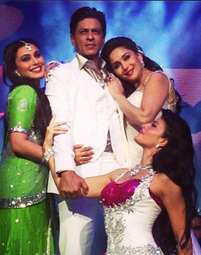 Rani Mukerji, Shah Rukh Khan, Madhuri Dixit and Jacqueline Fernandez